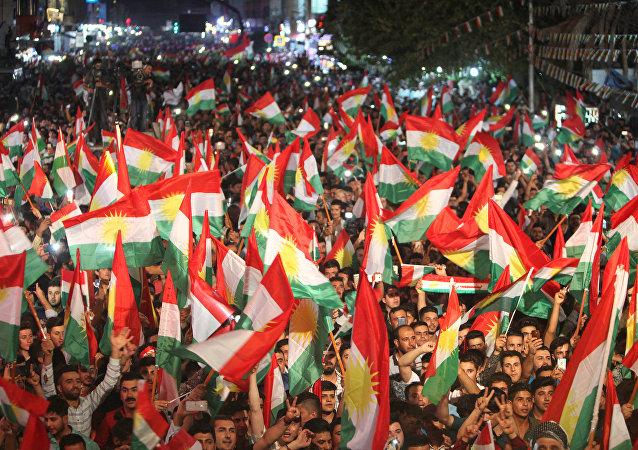 Partidarios del referéndum en el Kurdistán iraquí (archivo)