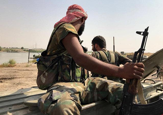 Militares sirios, foto de archivo