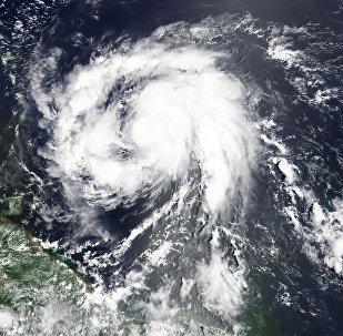 Huracán María visto desde el espacio
