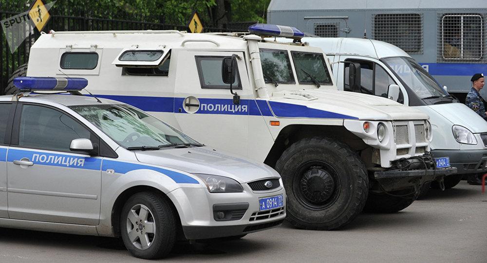Coches de policía rusa (archivo)