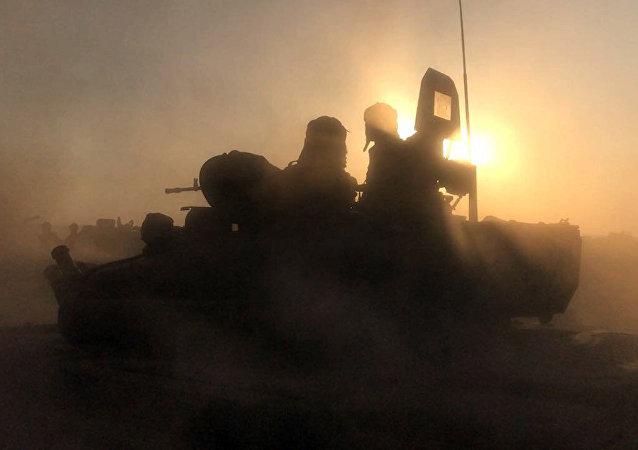 Combates alrededor de la ciudad de Deir Ezzor (archivo)
