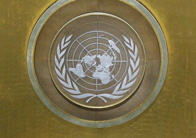 El logo de la ONU