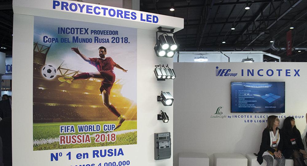 La empresa rusa Incotex Electronics Group, líder en iluminación, presentó en un stand en la feria  'BIEL Light + Building Buenos Aires' sus productos.