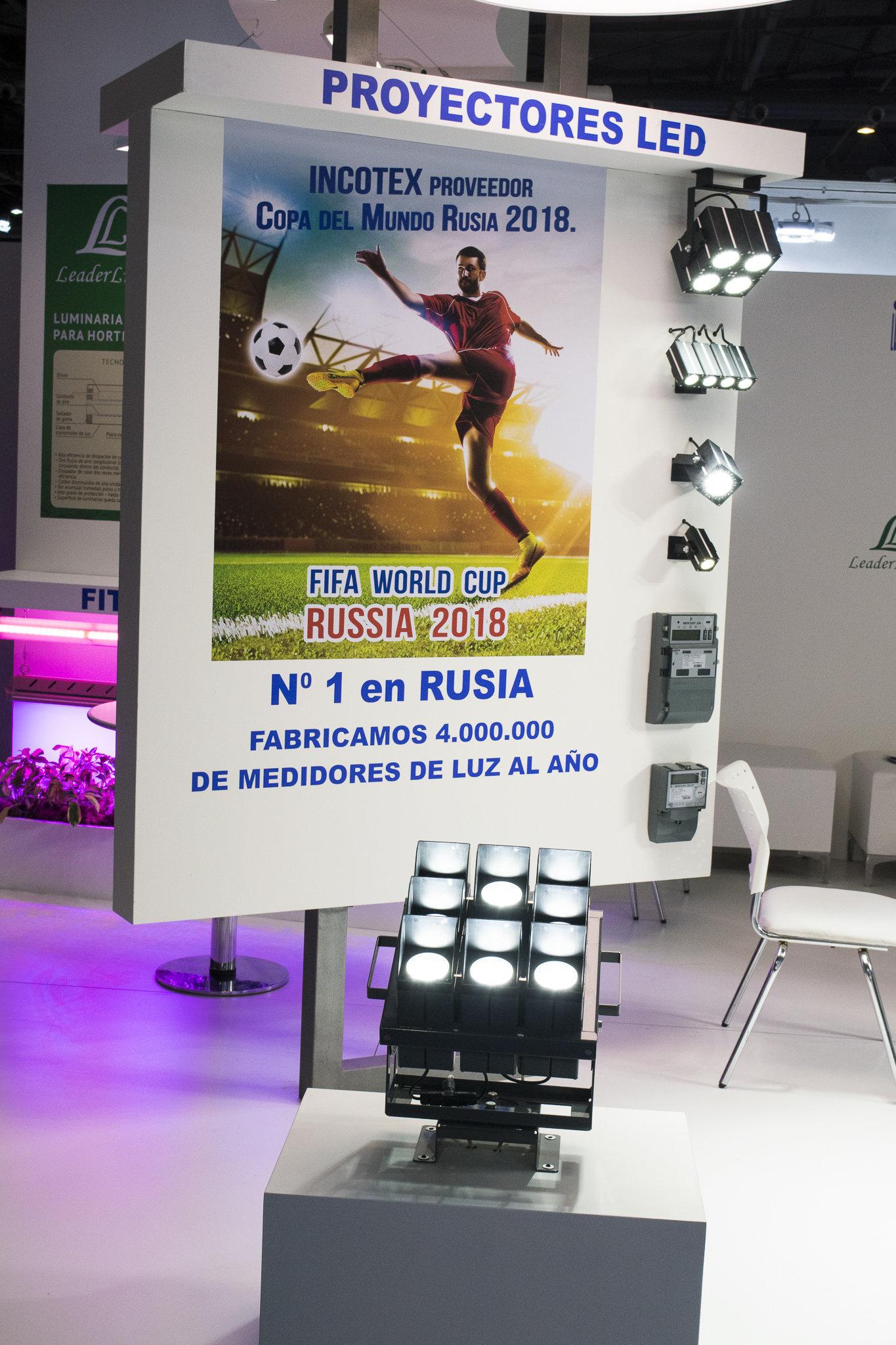 La empresa Incotex, proveedora de los estadios de Rusia 2018, exhibe sus productos en Argentina
