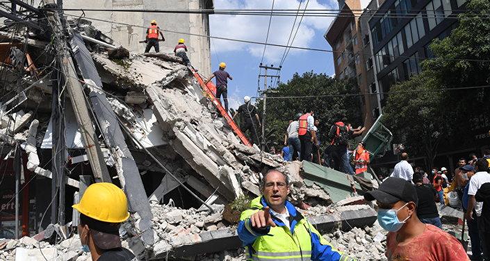 Las consecuencias del terremoto en Puebla, México