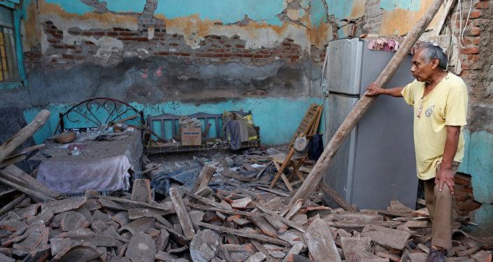 Las consecuencias del terremoto en Oaxaca, México (archivo)