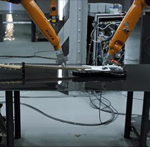 Robots industrialestocan tocan música