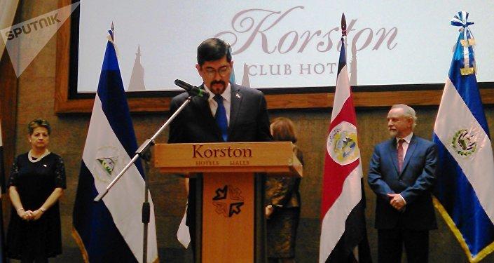 Embajadoe de Nicaragua J.E. Vázquez
