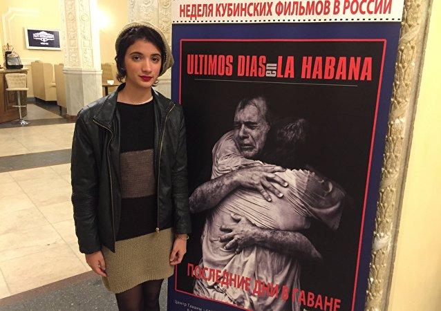 Gabriela Ramos en la Semana del cine cubano en Moscú