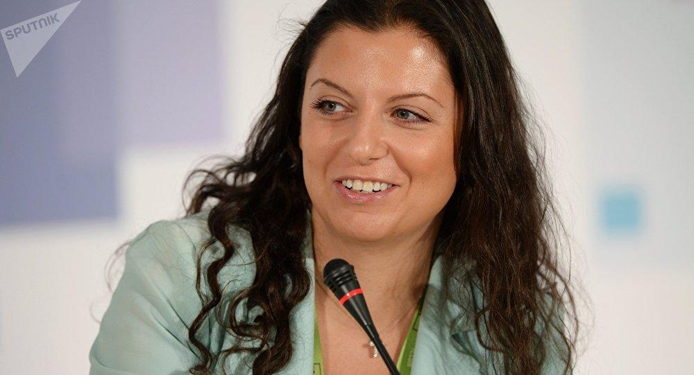 Margarita Simonián, directora jefa del grupo mediático Rossiya Segodnya y de la cadena RT (archivo)