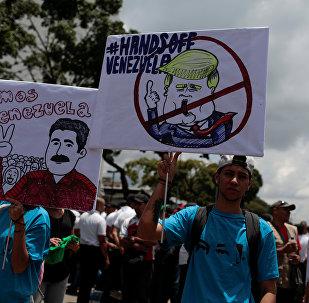 Los partidarios del presidente de venezuela, Nicolás Maduro