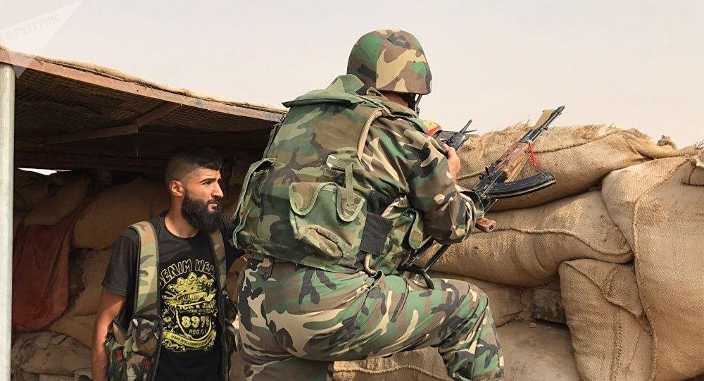 Militares sirios en Deir Ezzor