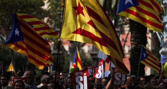 Protestas frente a la sede del Tribunal Superior de Justicia de Cataluña