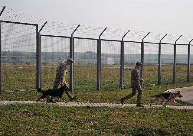 Guardias fronterizos ucranianos