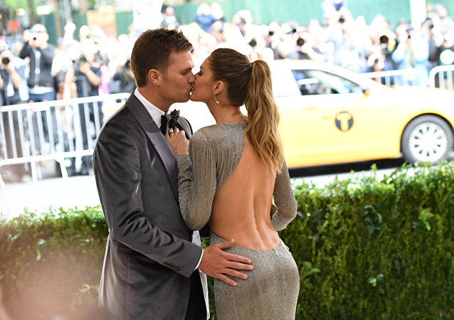 Gisele Bundchen con su marido Tom Brady