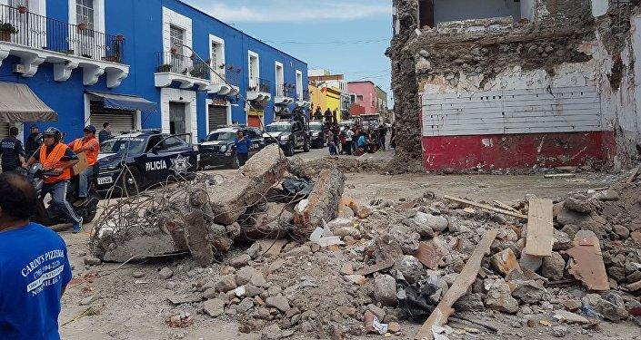 Ciudad de Atlixco tras el terremoto