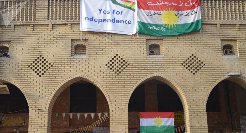 Carteles apoyando al referéndum en Kurdistán iraquí