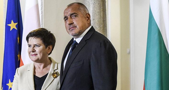 Beata Szydlo, primera ministra de Polonia, y Boiko Borísov, primer ministro de Bulgaria