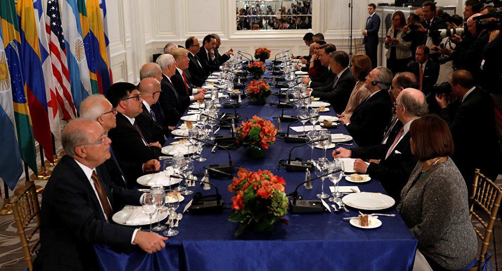 Donald Trump citó a varios presidentes para hablar sobre Venezuela