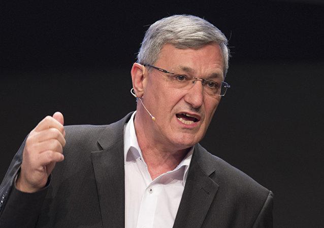Bernd Riexinger, presidente del partido alemán Die Linke (La Izquierda)