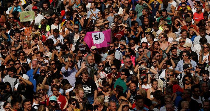 Manifestación de protesta en Barcelona