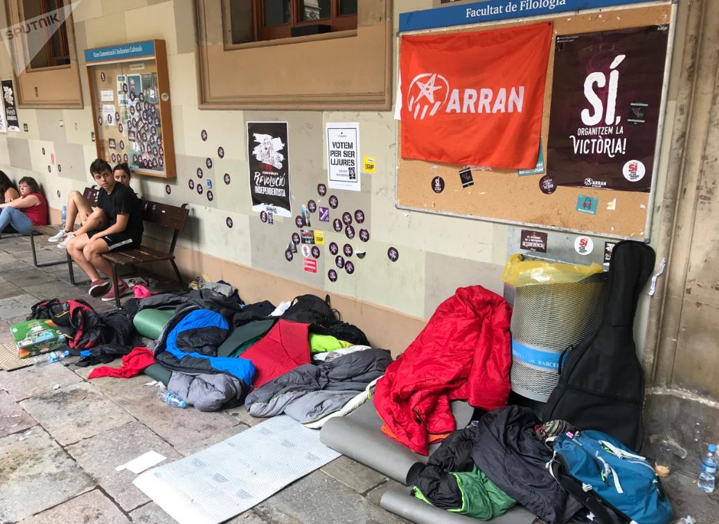 Estudiantes ocupan el Edificio Histórico de la Universidad de Barcelona