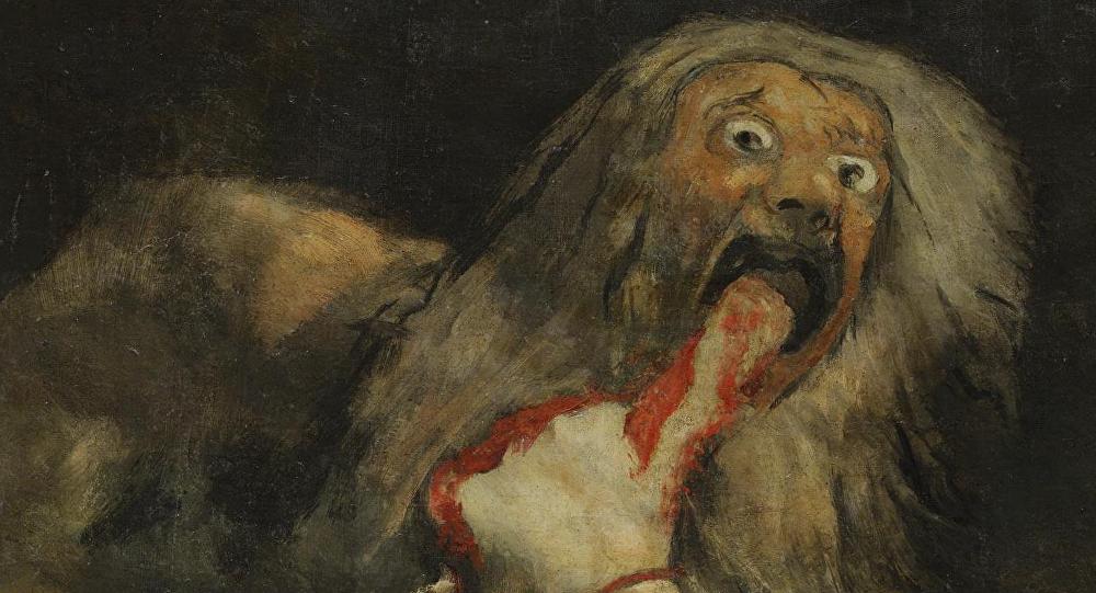 Saturno devorando a su hijo, de Francisco de Goya (1819-1823)