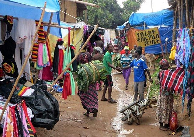 Un pueblo en Etiopía (imagen referencial)