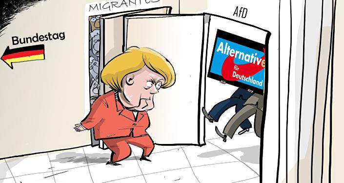 Merkel abre personalmente las puertas del Bundestag a los derechistas