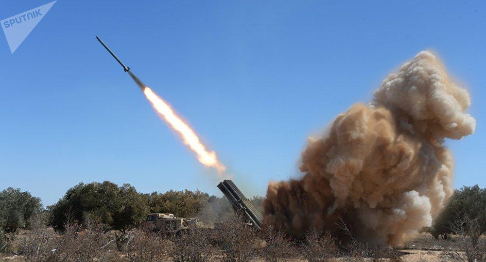 Lanzacohetes múltiples Uragan en Palmira, 2016