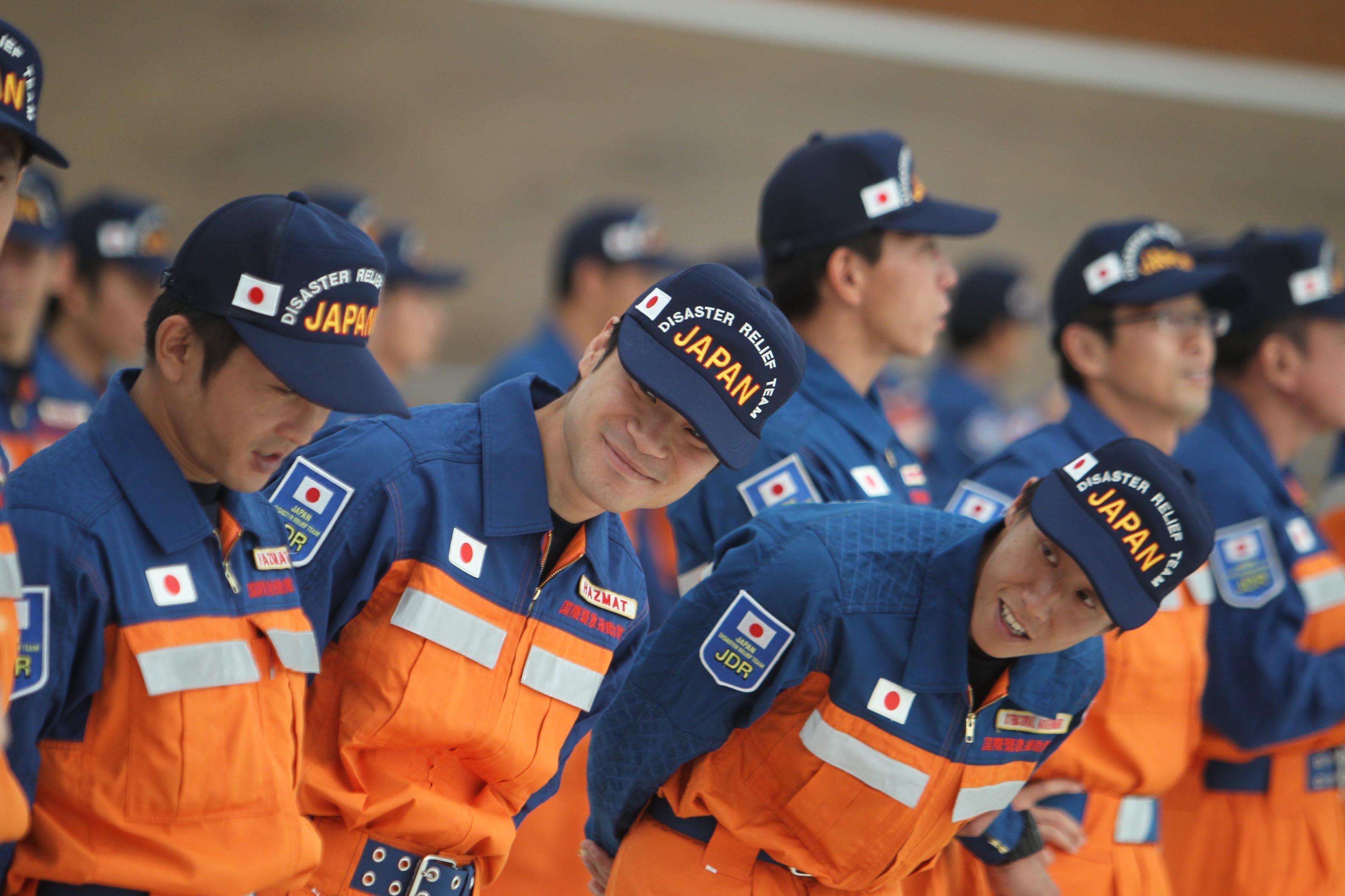 Los rescatistas de Japón
