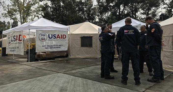 Puesto de Comando de Ayuda Internacional de Brigadistas y Rescatistas