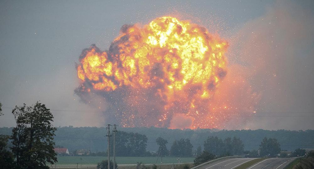 Estalla almacén de municiones militares en Ucrania