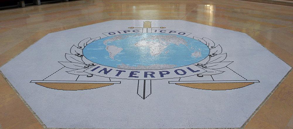 El logo de Interpol