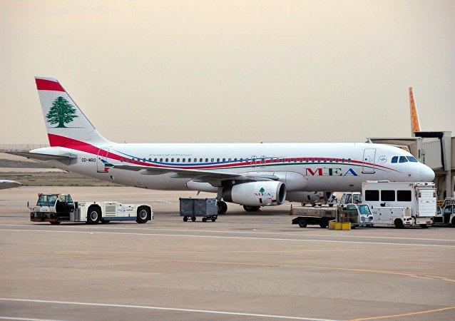 Un avión de la compañía aérea libanesa Middle East Airlines