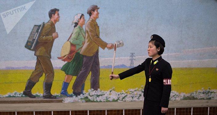 El metro de Pyongyang (imagen referencial)