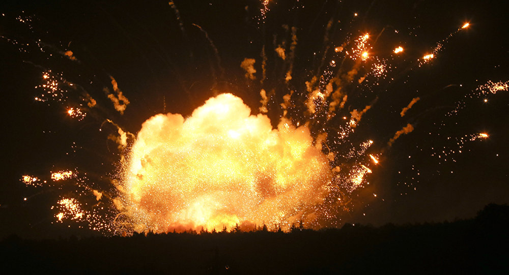 Explosiones en un almacén de municiones (archvio)
