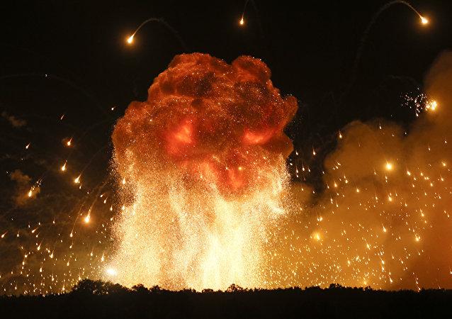 Explosiones en un arcenal en Ucrania (archivo)