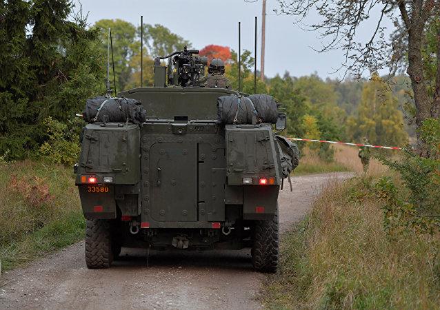 Un vehículo militar sueco (archivo)