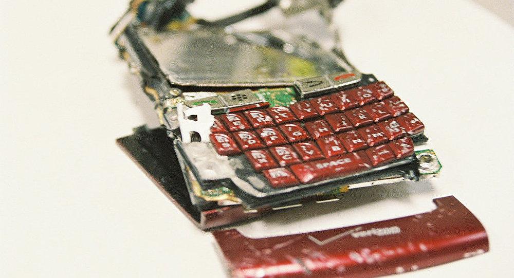 Un smartphone roto