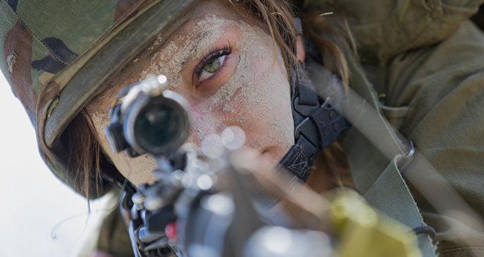 Una soldado israelí