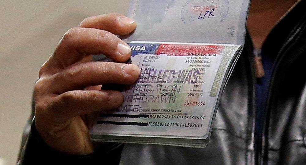 Visado denegado de EEUU (imagen referencial)