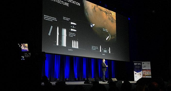 El jefe de la empresa SpaceX Elon Musk en el Congreso Astronáutico Internacional en Australia