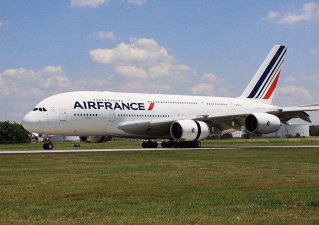 Un avión de pasajeros Airbus A380 de Air France (archivo)
