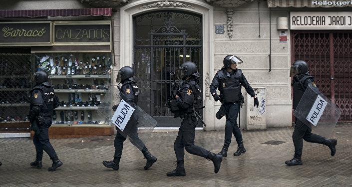 Policía española en Cataluña (archivo)