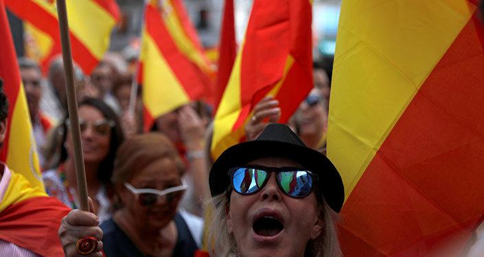 Los partidarios de la independencia de Cataluña en Madrid
