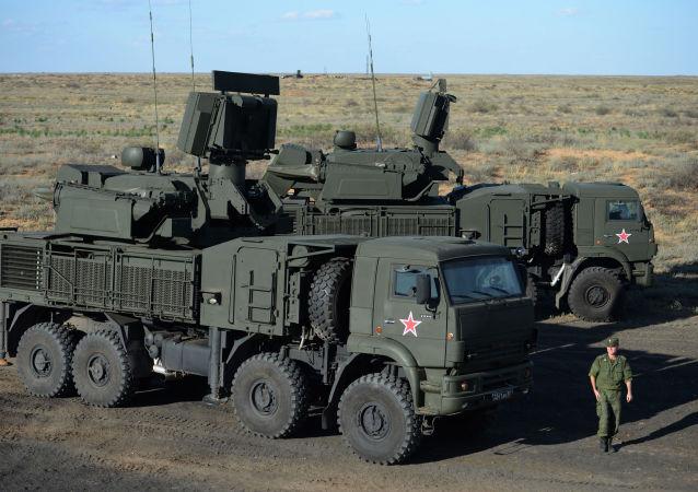 Sistema antiaéreo Pántsir-S1 (imagen referencial)