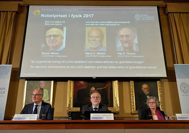 Los ganadores del Premio Nobel de Física 2017