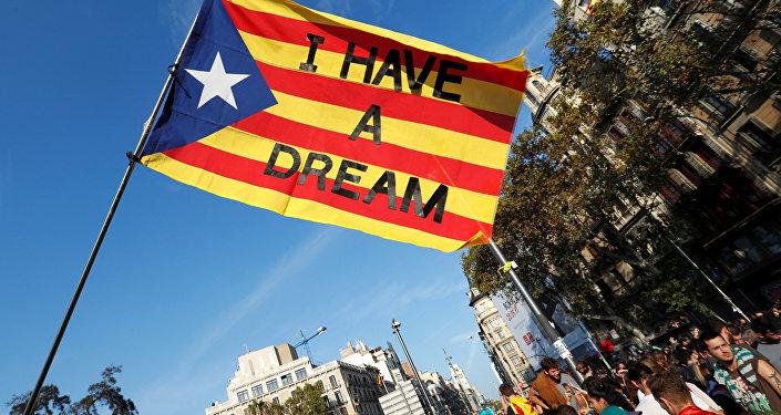Masiva manifestación en Barcelona