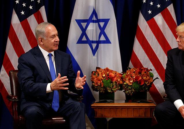 Primer ministro de IsraelBenjamin Netanyahu, y presidente de EEUU, Donald Trump